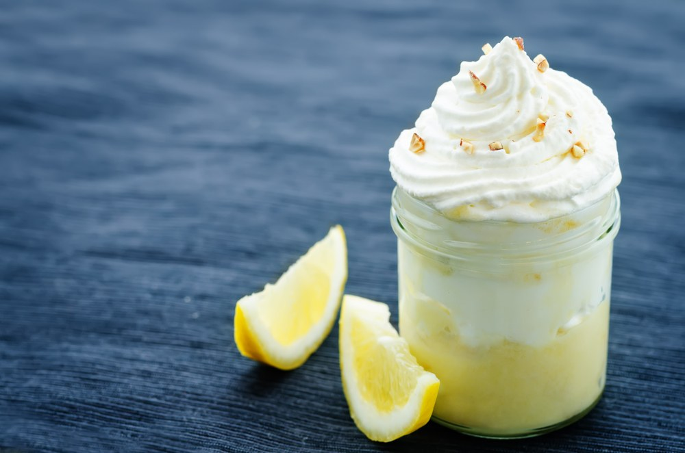 whipped cream in cup